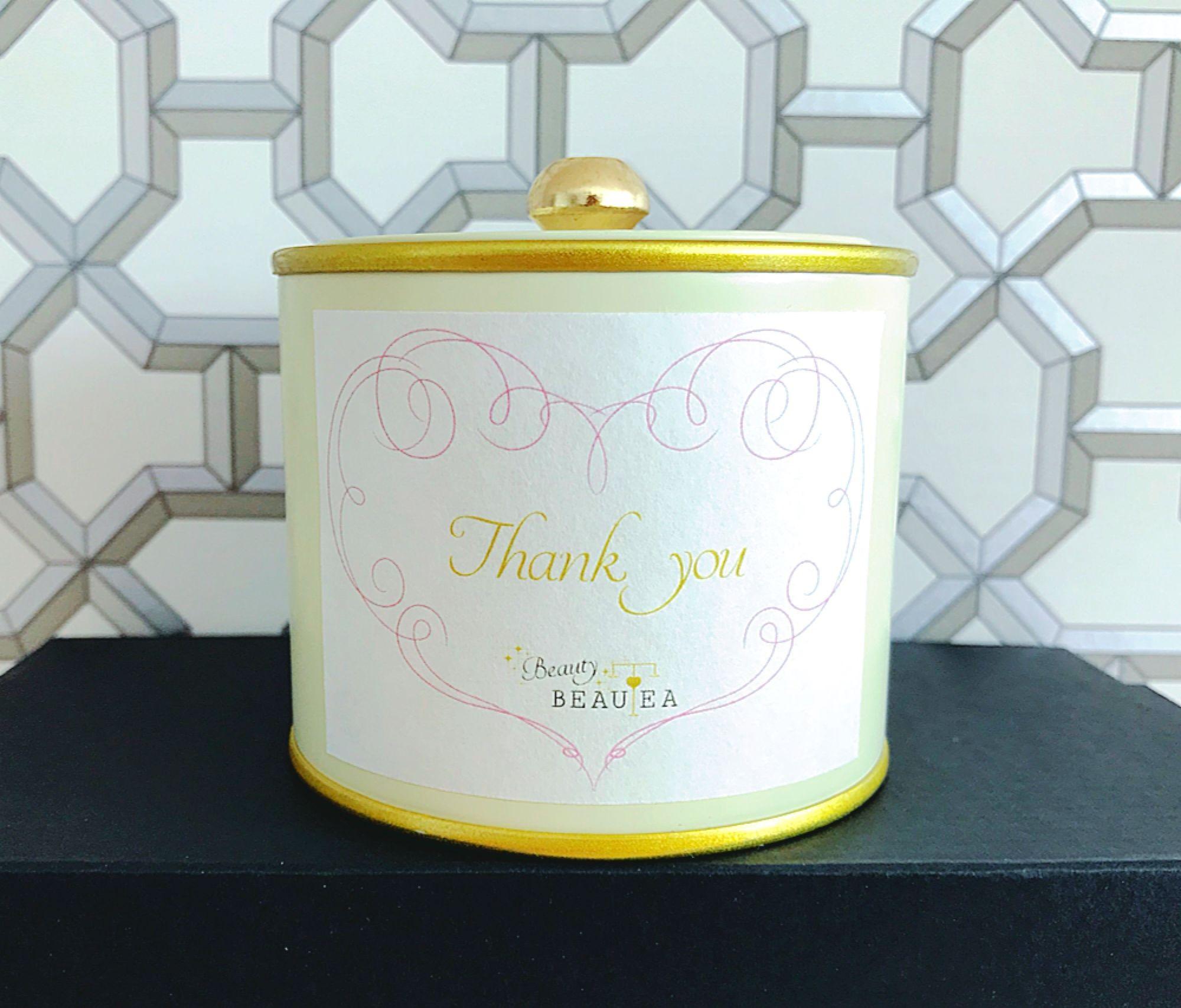 【Thank you】メッセージラベル*薬膳茶BeautyBEAUTEA