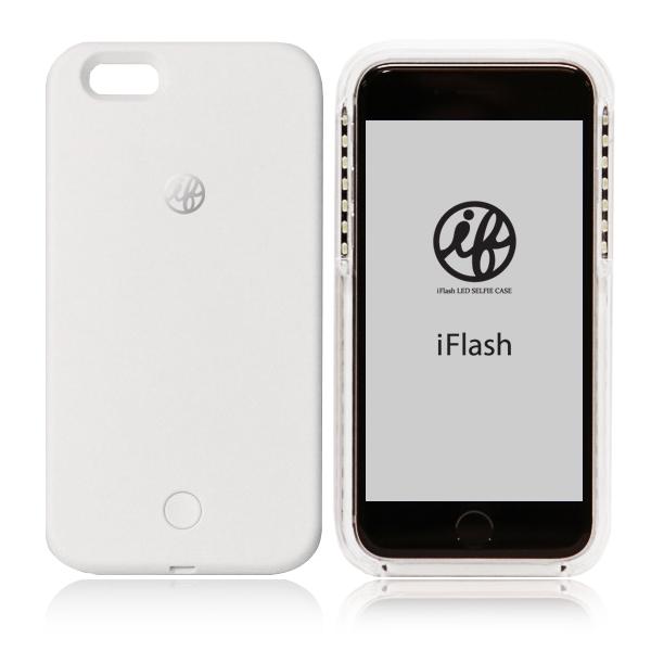 iFlash アイフラッシュ【送料無料】自撮りが綺麗セルフィーLED iPhoneケース WHITE(ホワイト)