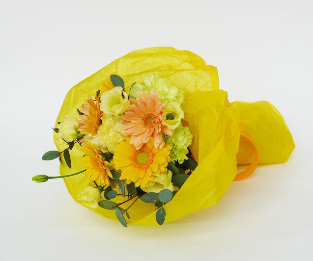 季節のお花のブーケ【yellow】/生花