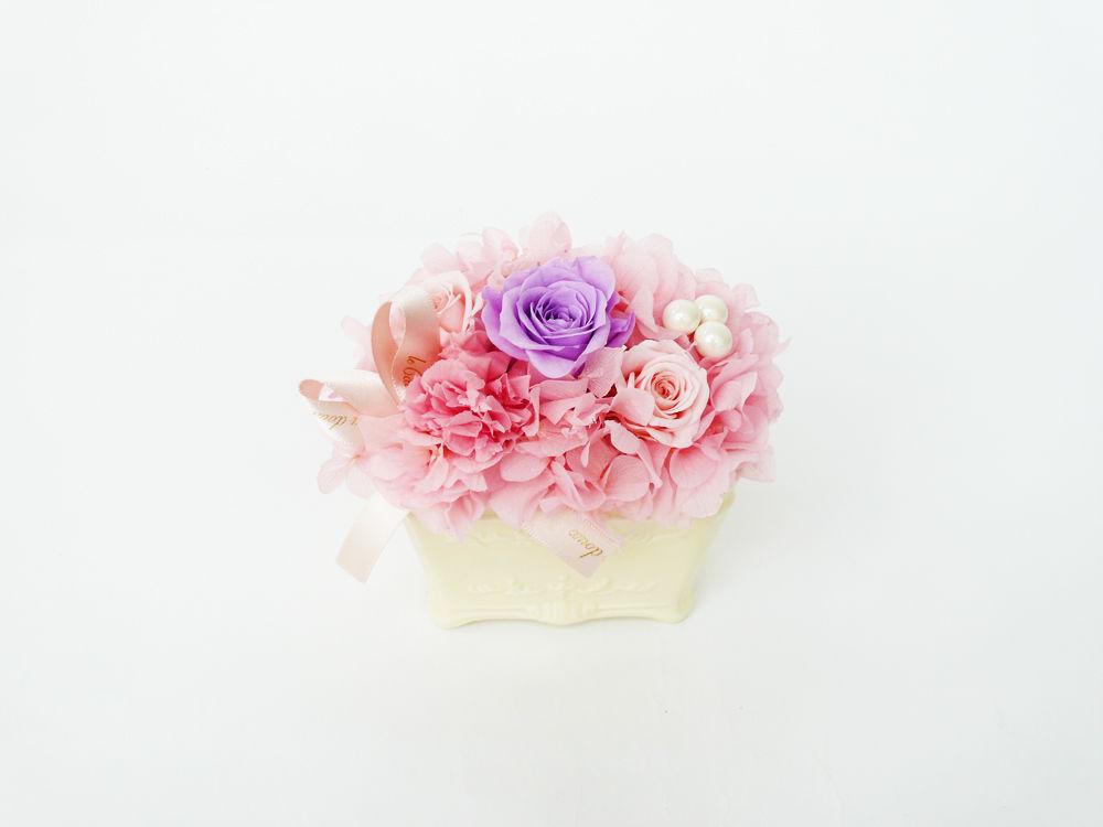 プリザーブドローズとパールのアレンジメント【Pink】
