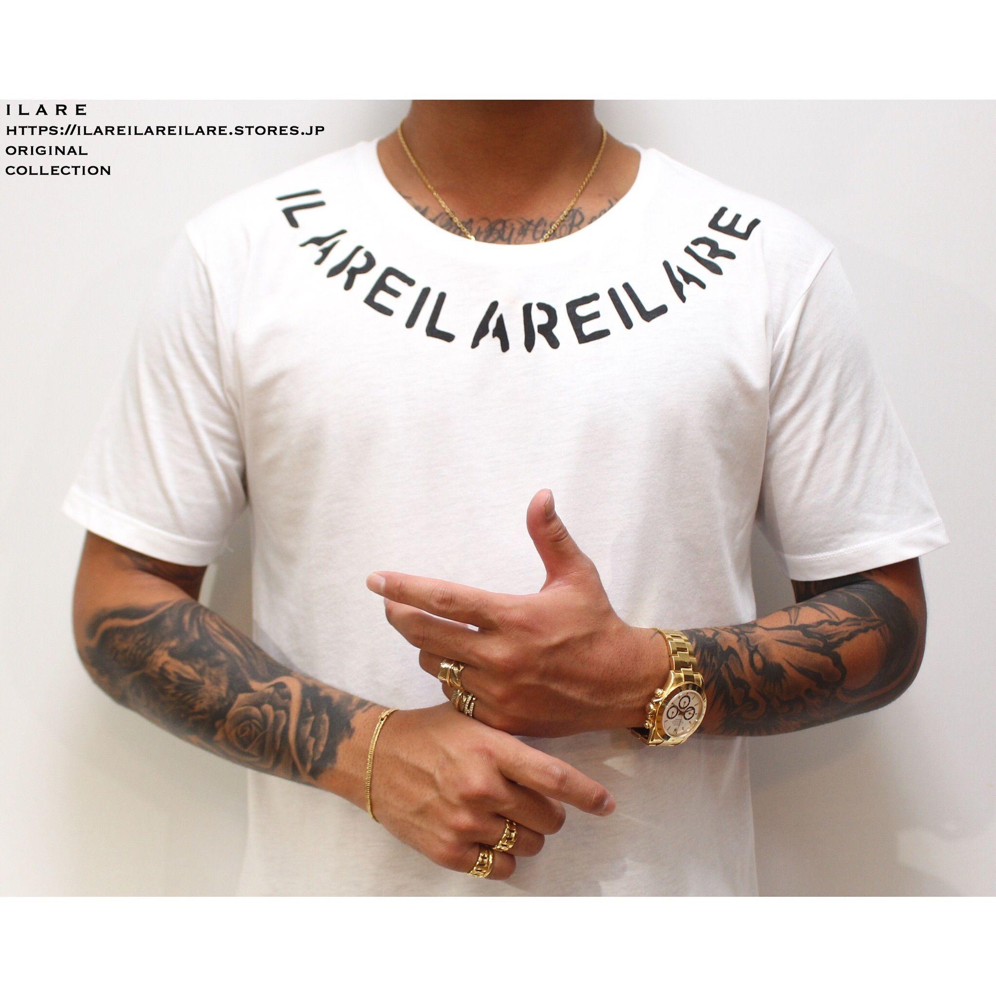 ILAREネックレスロゴティーシャツ/ホワイト