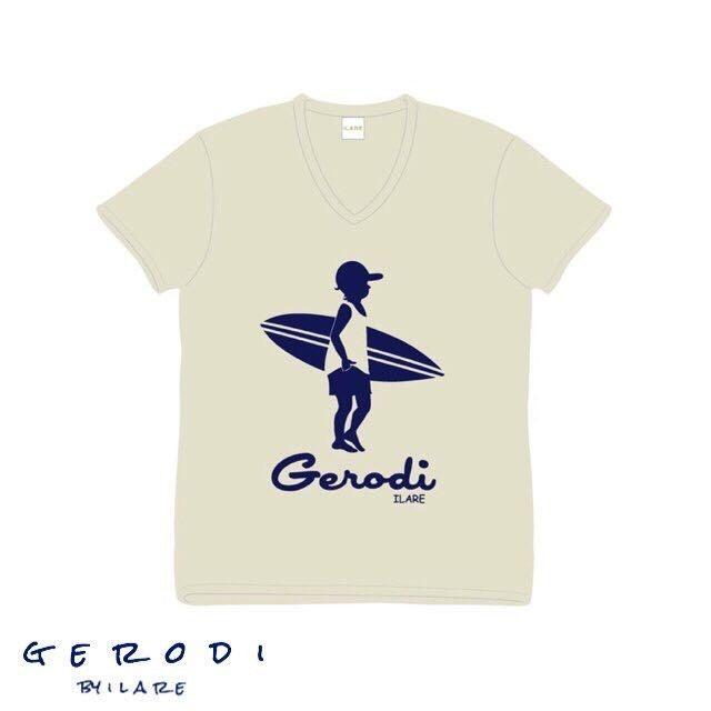【Gerodi】サーフボーイロゴTシャツ/オートミール