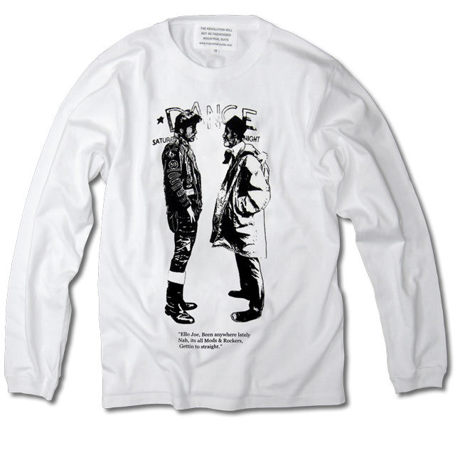 MODSvsROCKERS LONG SLEEVE TEE【WHITE-A】