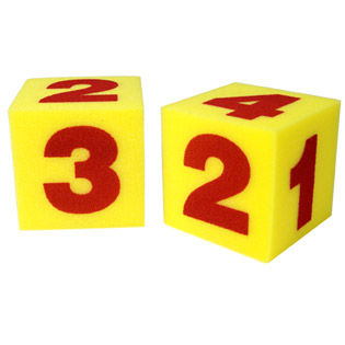 Giant Soft Foam Number Cubes ジャイアントスポンジ数字サイコロ
