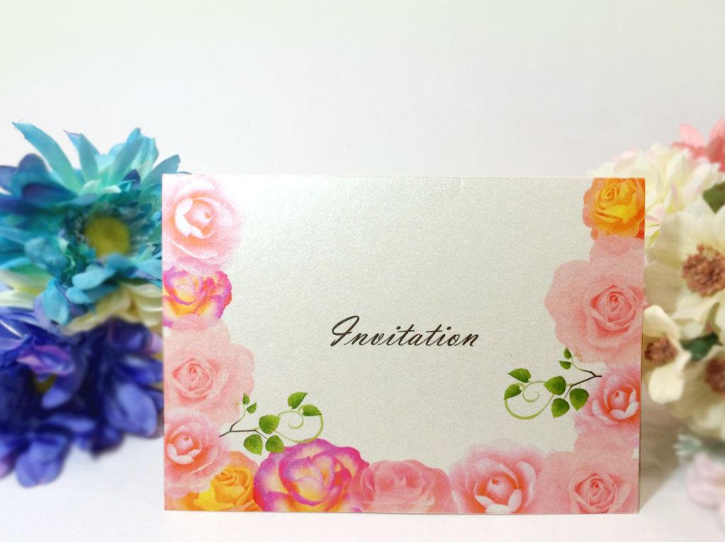 招待状 花-002    10セット入り  宛名印刷有り