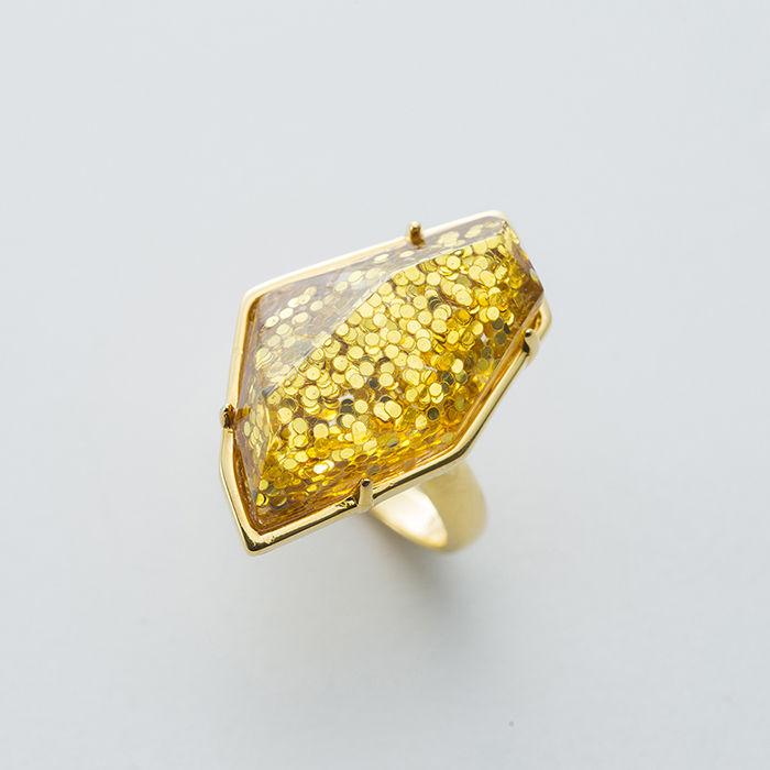 GLITTER SPARKLE RING【COLOR:GOLD】