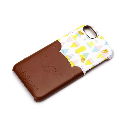 iPhone 7/8用 ポケット付きPUケース リラックマ/ダイカット YY01606
