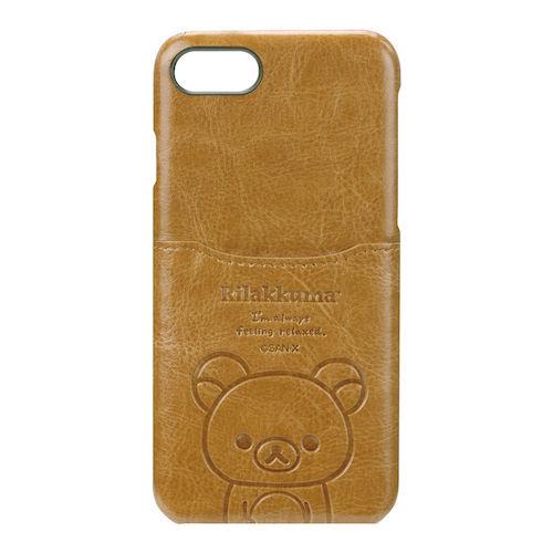 iPhone 7/8用 ポケット付きPUケース リラックマ/ブラウン YY01608