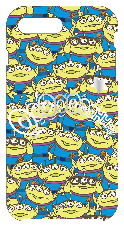 グルマンディーズ ディズニーキャラクターiPhone7/8Plus対応ソフトケース リトルグリーンメン dn-390c