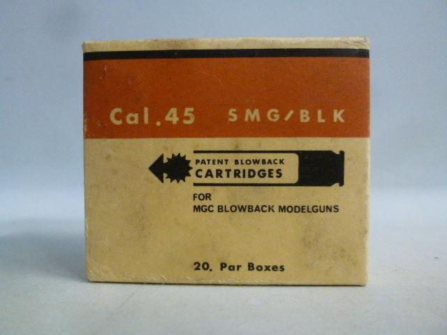 【中古】 MGC カートリッジ Cal.45 SMG/BLK ブローバック モデルガン 20発入り  1710-261SK
