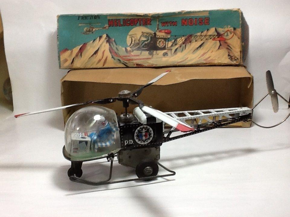 【中古】フリクション パトロール ヘリコプター ノイズ ヴィンテージブリキ FRICTION HELICOPTER WITH NOISE S-1000A   ss1804-3