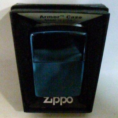 【中古】 Zippo Armor Case ブルー チタンコーティング アーマー ジッポー 3949191  1711-246SK