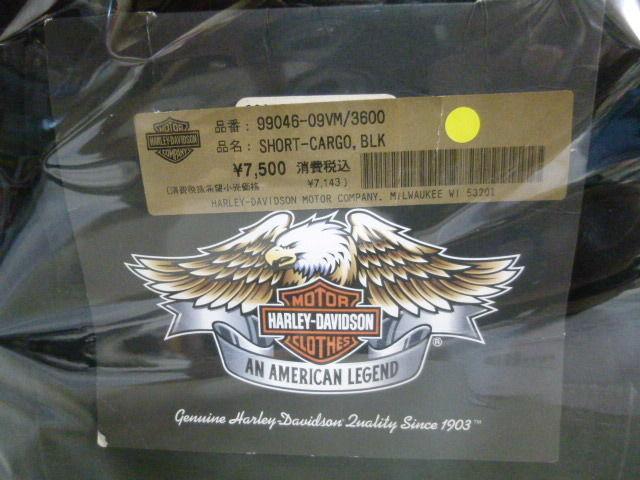 【未使用】 ハーレー ダビッドソン ショート カーゴパンツ 黒 Harley Davidson  SHORT-CARGO BLK 99046-09VM/3600   179-313SK