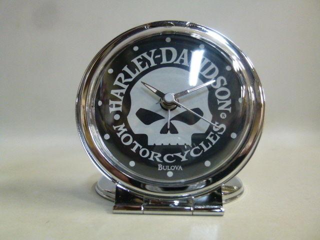 【未使用】ハーレー ダビッドソン スカル トラベル アラーム Harley Davidson SKULL TRAVEL ALARM トラベル クロック 時計 99361-10V  179-306SK