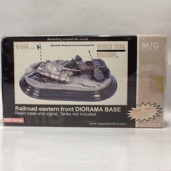 【新品】1/144ジオラマベース 1/144 Railroad eastern front DIORAMA bASE WORLDTANK MUSEUM  ss1803-132