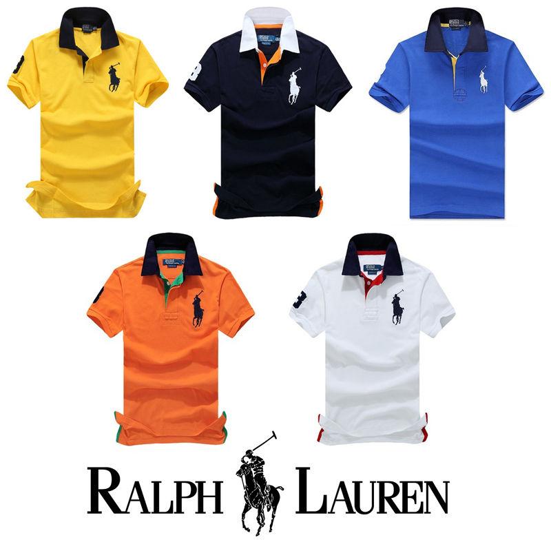 送料無料 人気定番半袖 Polo Ralph Lauren ポロ ラルフローレン 人気 半袖 Tシャツ メンズ レディース 5COLOR [PL-902-9002]