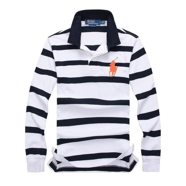 【POLO】高質新品POLOポロ ラルフローレン男性用Tシャツ長袖3色[shop-PL-11]