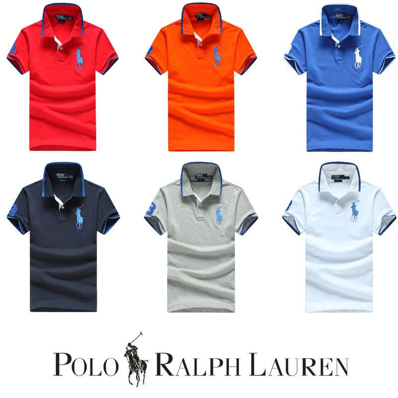 送料無料 人気定番半袖 Polo Ralph Lauren ポロ ラルフローレン 人気 半袖 Tシャツ メンズ レディース 6COLOR [WX-PL-4C8F]