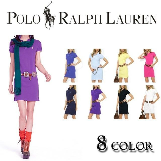 人気定番半袖 Polo Ralph Lauren ポロ ラルフローレン 人気 半袖 ワンピース[PL-19]