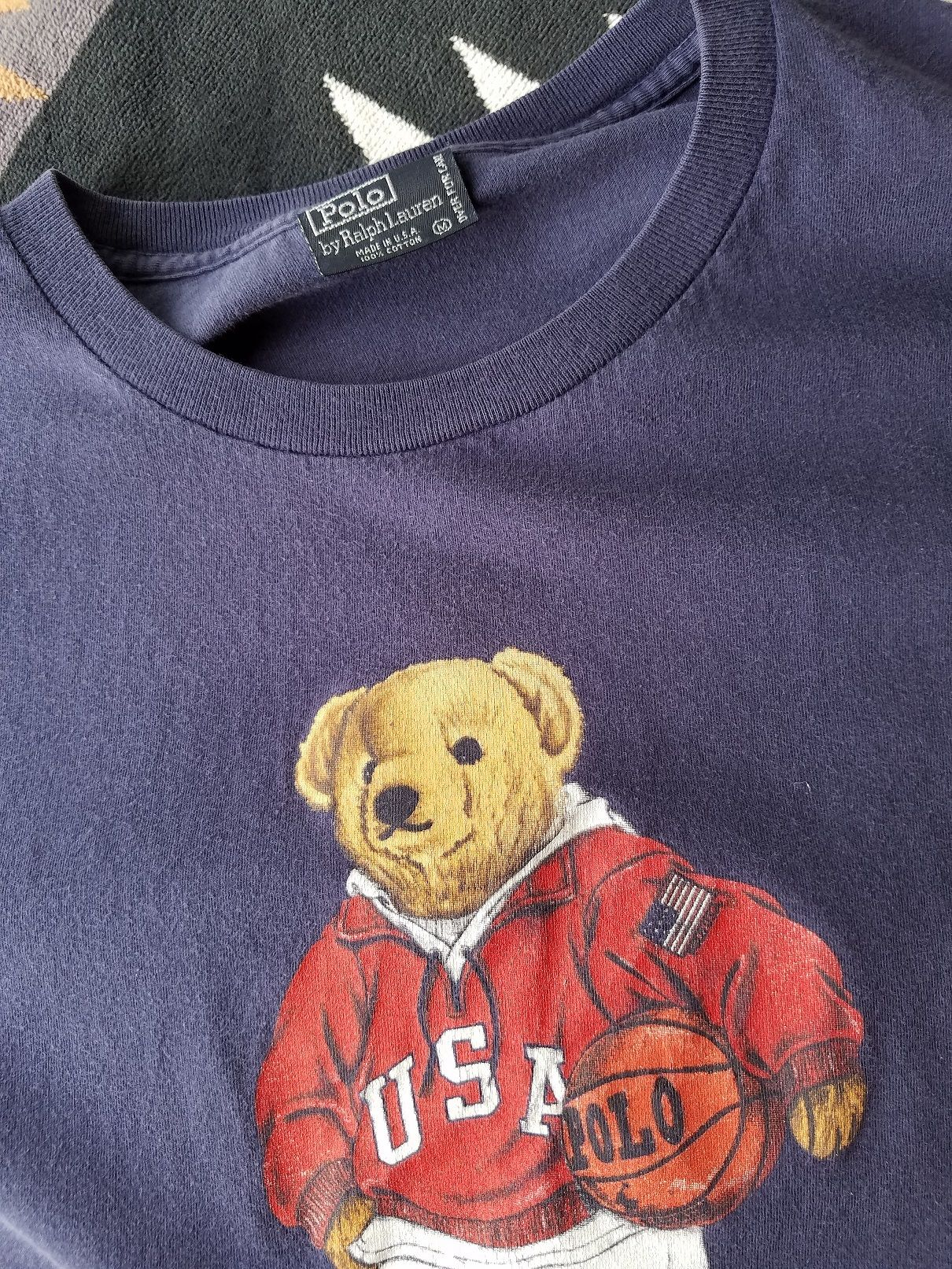 【USED】【MADE IN USA】POLO SPORTS  BEAR T-SHIRTS