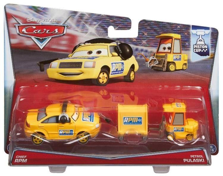 ディズニー・ピクサー カーズ  2015 マテル キャラクターカー 2パック Chief RPM and Petrol Pulaski
