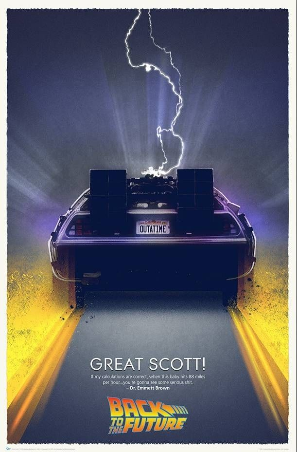 バックトゥザフューチャー「Great Scott 」アート  プリント Back To The Future Great Scott Art Print