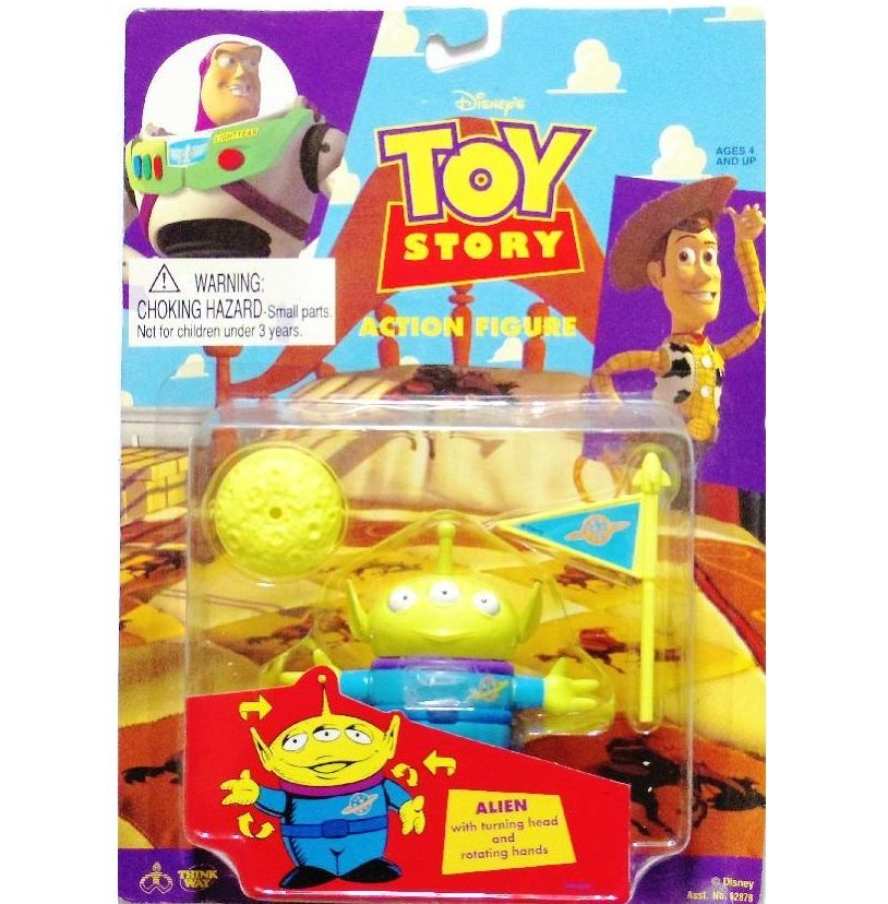 トイストーリー 1996年 Think Way Toys アクションフィギュア ALIEN エイリアン