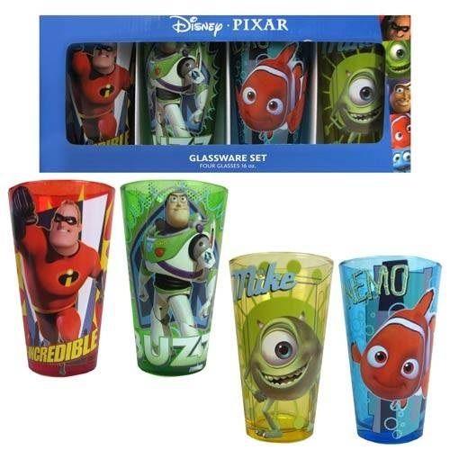 ピクサー キャラクター ガラスのタンブラー 4種セット