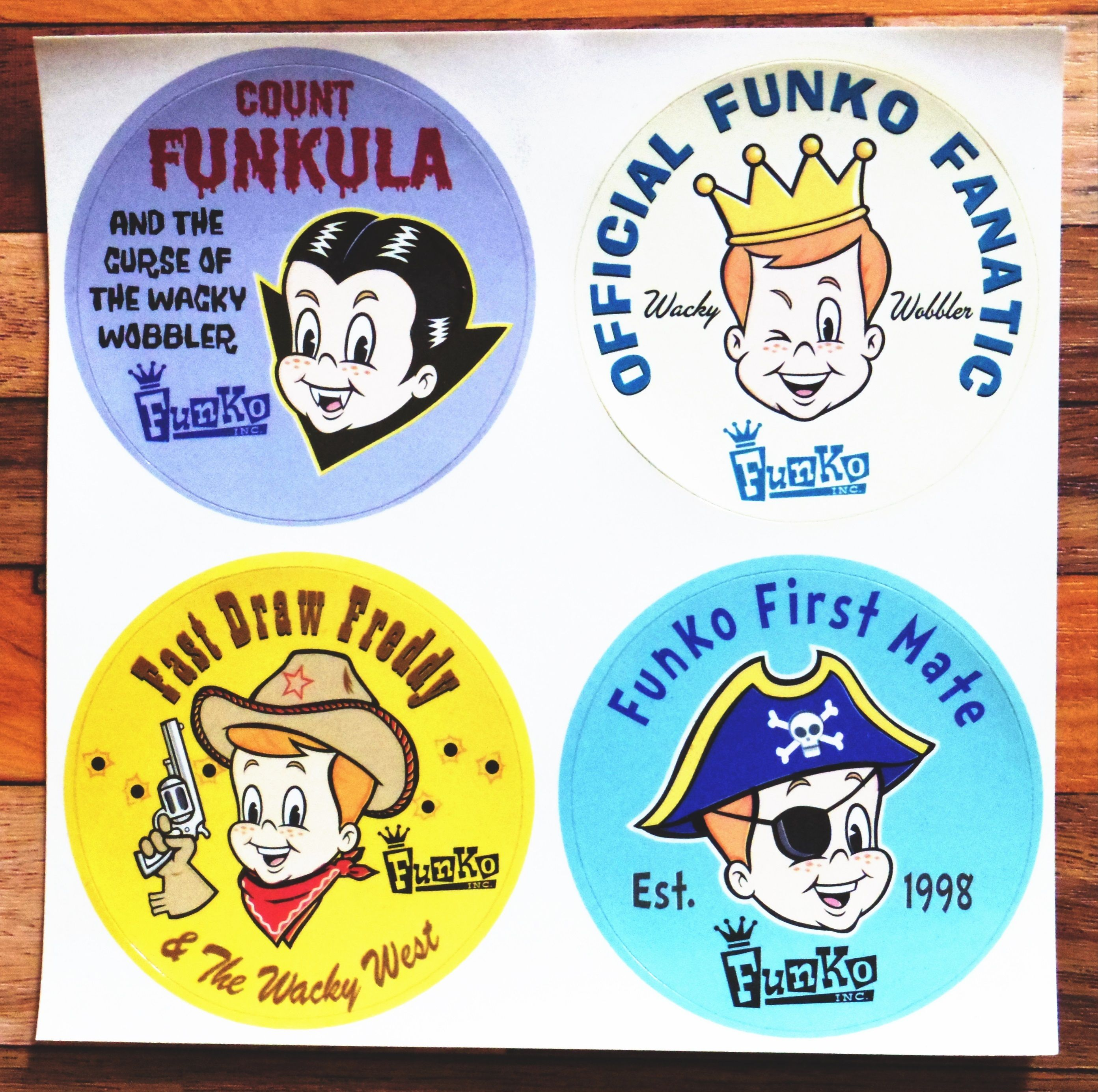1998年頃のデッドストック! FUNKO社 販促用ステッカー(佐川急便メール便送料込)