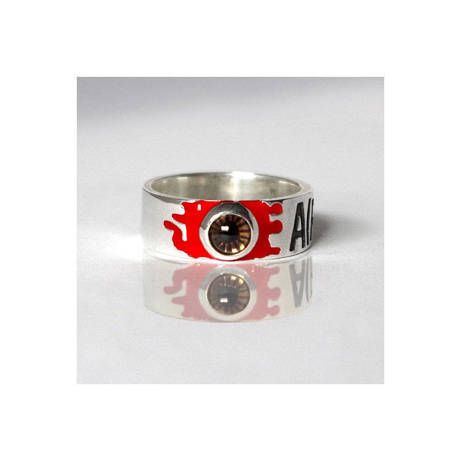 """ALEXANDER"" Silver Jewel Ring(R)"