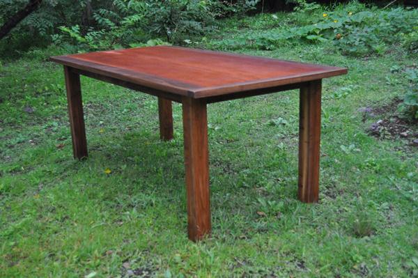古材ケヤキ&ウォールナットダイニングテーブル