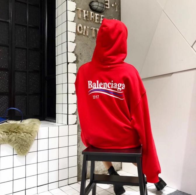 新入荷★Balenciaga  バレンシアガ パーカー オーバーサイズ レット 男女兼用