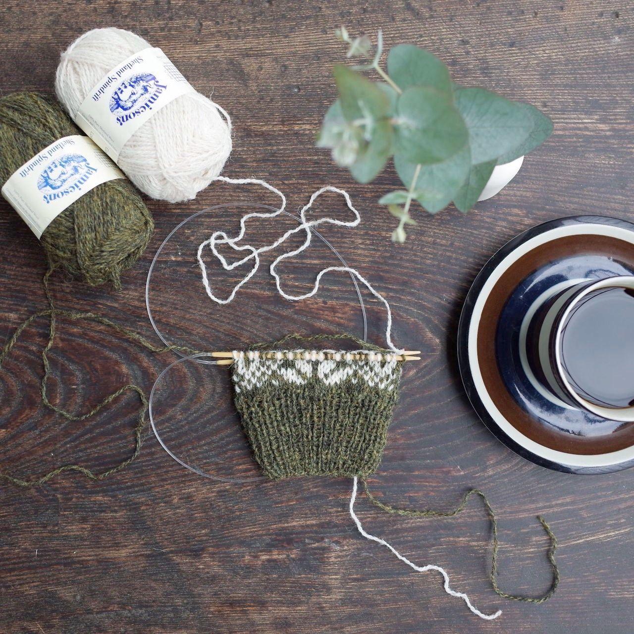 編みものキット / 北欧風編み込み模様のミトン / Palapeli[パラペリ]/ 全 5 色