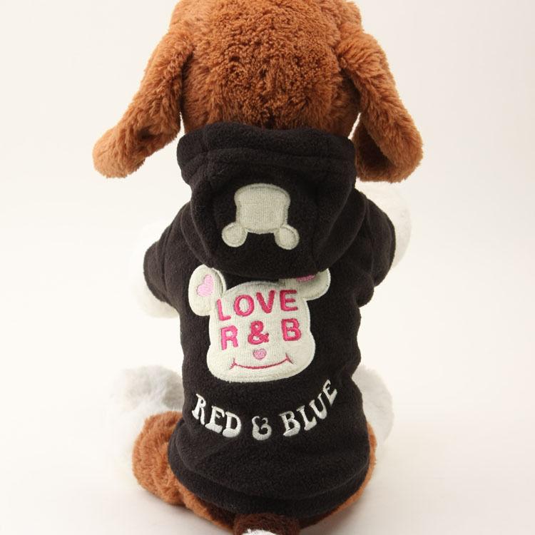 【☆犬服】フードが可愛いぃペット服☆ドッグウエア(ブラック)