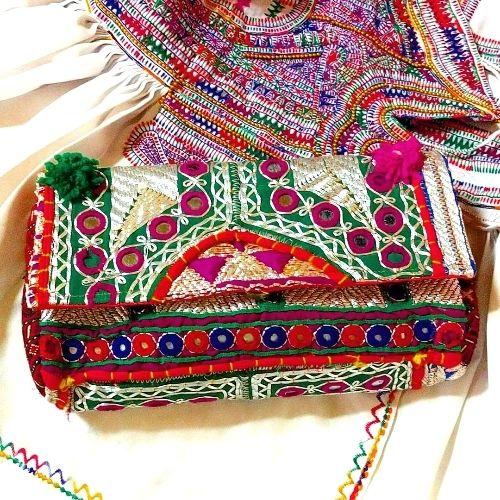 【期間限定SALE】Banjara 2wayクラッチバッグ 1点物《bjc13》zariミラーワーク刺繍ヴィンテージテキスタイル