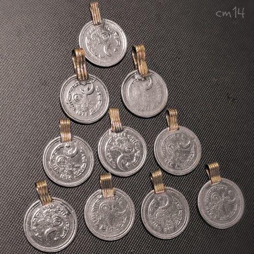 コインパーツ 10P 《cm14》シルバーカラー Kuchi パキスタン