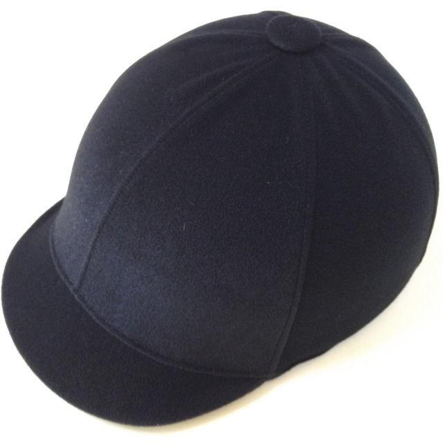 ジョッキータイプヘルメット ベロア黒