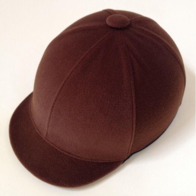 ジョッキータイプヘルメット ベロア茶