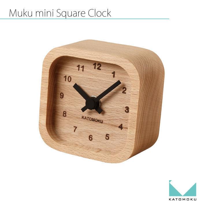 KATOMOKU Mini square clock  km-25 黒