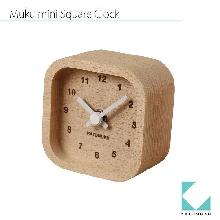 KATOMOKU Mini square clock  km-25 白