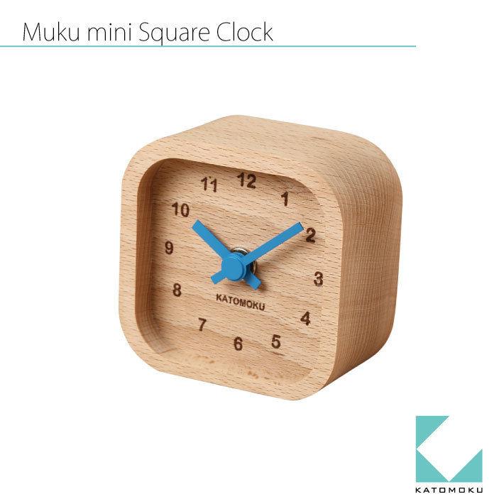 KATOMOKU Mini square clock  km-25 青
