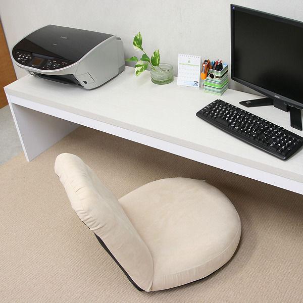 【激安/ネット最安値】薄型パソコンデスク ロータイプ 幅180×奥行45 ホワイト