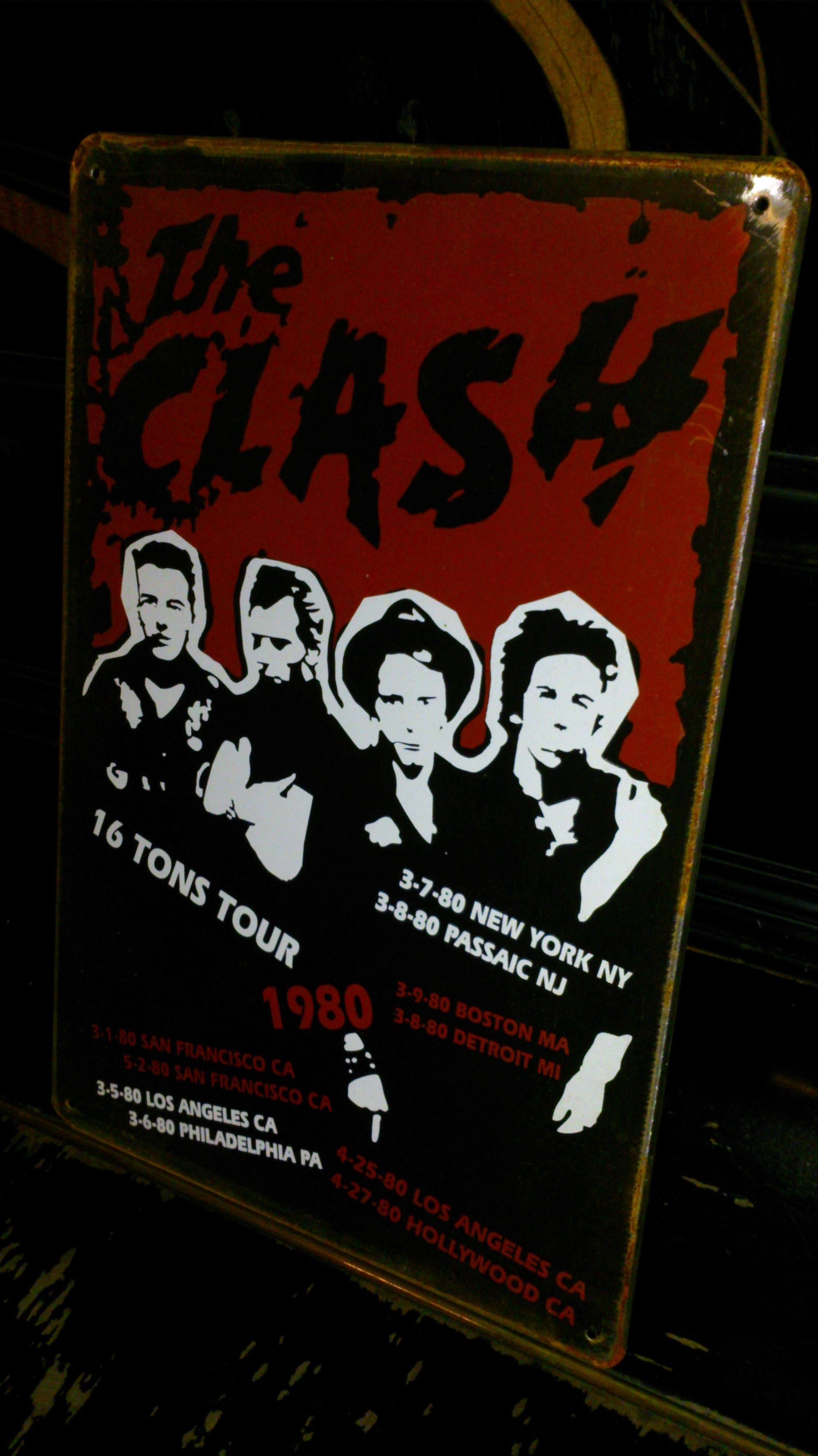 激アレ!ザ・クラッシュ【The Clash】ハンドメイド・英国製看板