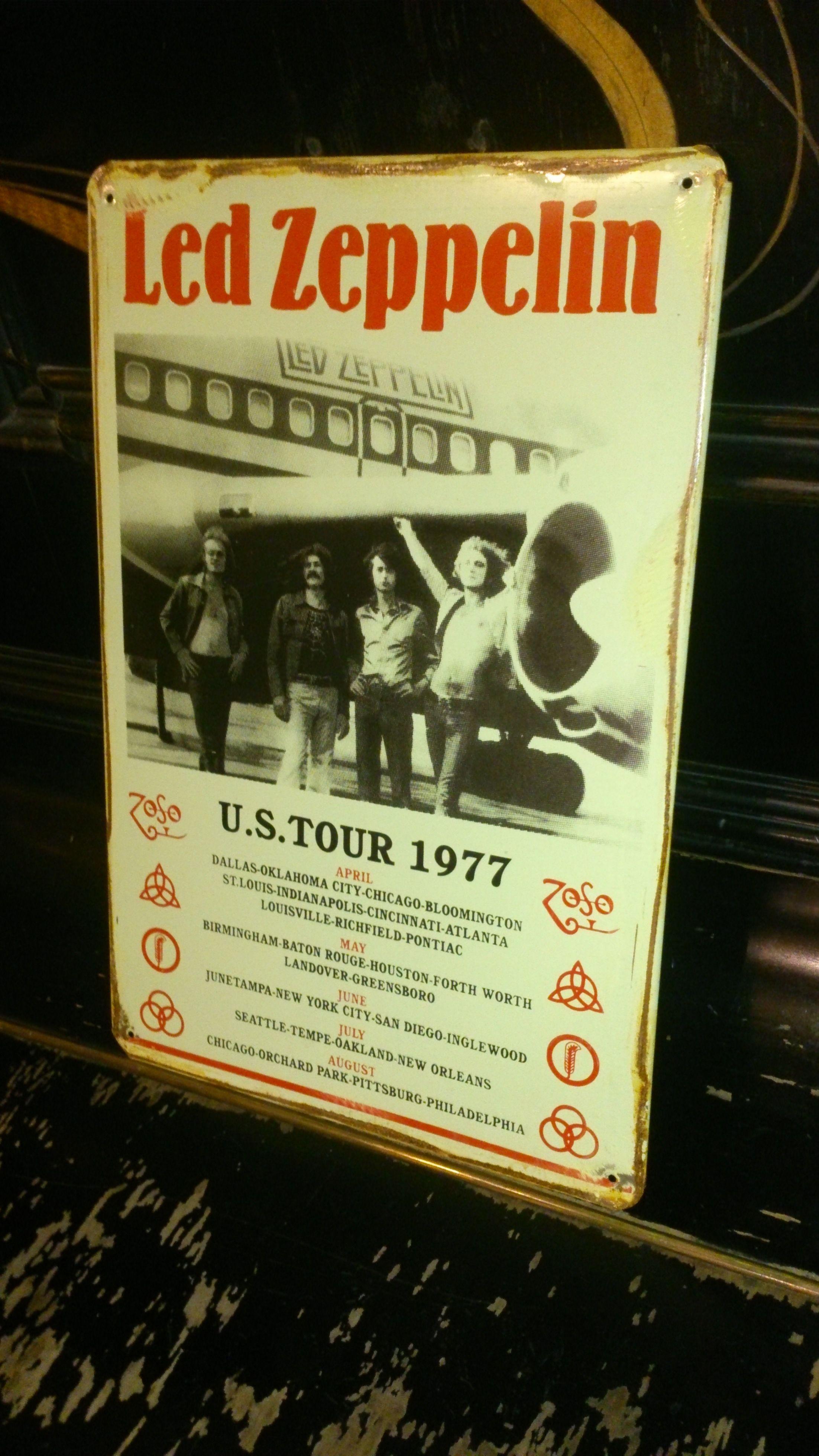 Led Zeppelin レッドツェッペリン ブリキ看板【ハンドメイド・英国製】