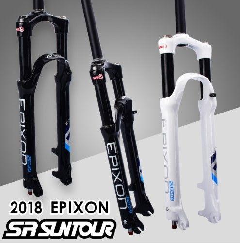 サスペンションフォーク 自転車 【2018年新作】SRサンツアー EPIXON LO-R-26 100mm WHT マウンテンバイク リモートコントロール
