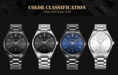 海外ブランド MINIFOCUS 高級ブランド アナログ スポーツ腕時計 メンズ クオーツ時計 スチール ビジネスウォッチ
