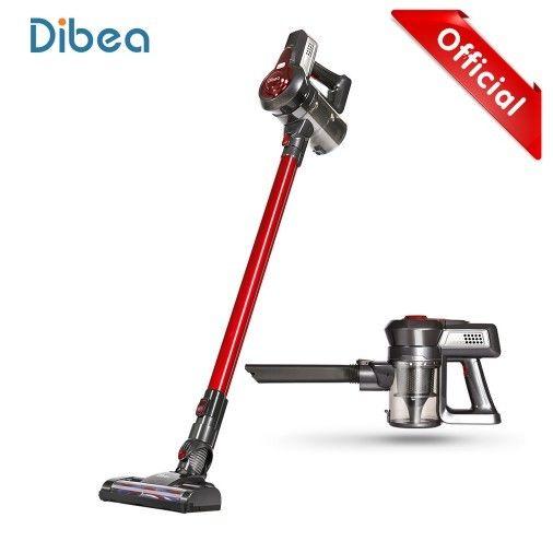 Dibea C17 コードレス掃除機 スティック&ハンディクリーナー 2-in-1 充電式 サイクロン掃除機 7000Pa強吸引力 40分間稼働(赤)