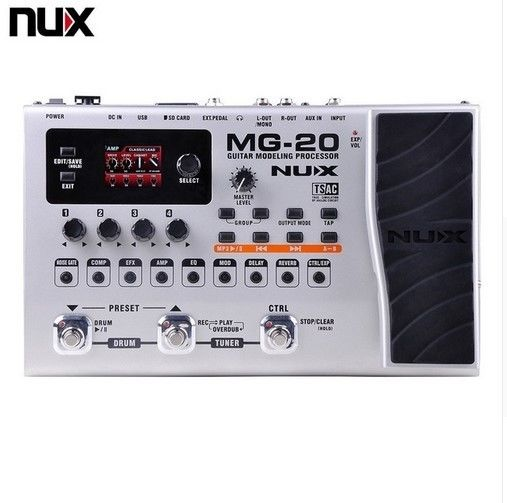 ギターモデリングプロセッサーNUX MG-20 スイッチペダル ソロ オーディオ 機器 バンド音楽