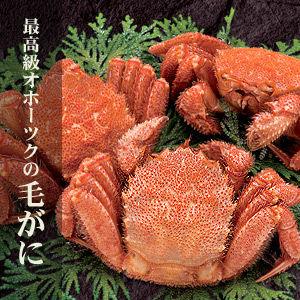 北海道産活毛ガニ 1kg詰め合わせ