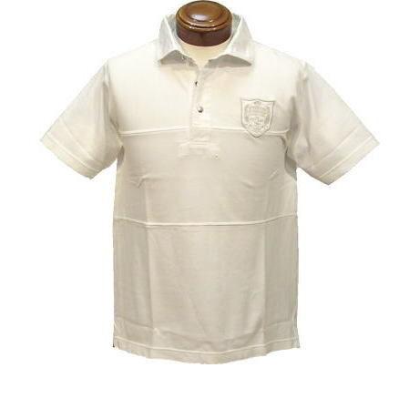 【SALE】マックレガー MM62-0105 半袖ラガーシャツ(メンズ鹿の子切替) アイボリー Mサイズ